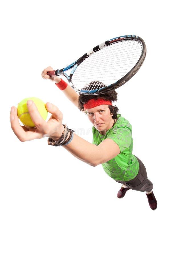 Gracz w tenisa portret fotografia royalty free