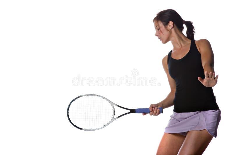 gracza żeński tenis fotografia stock