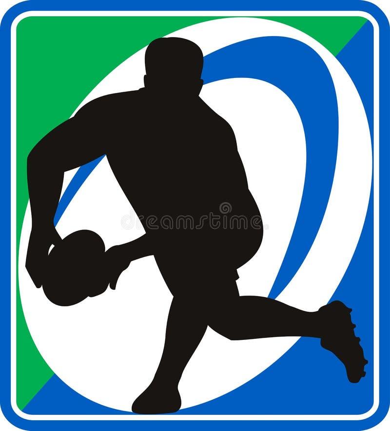 gracza balowy przelotny rugby ilustracji