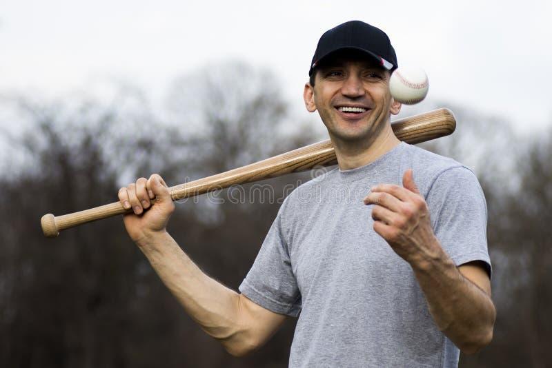 gracza baseballa ja target1792_0_ zdjęcia stock