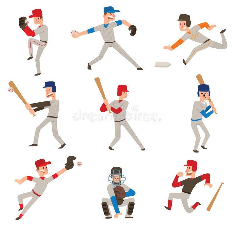 Gracza baseballa wektoru ikona ilustracja wektor