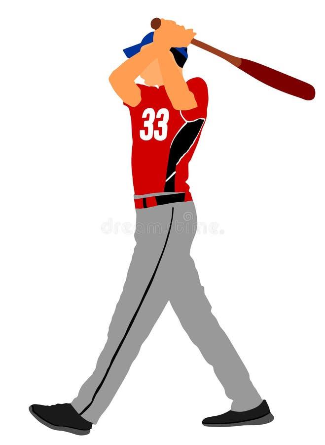 Gracza Baseballa wektoru ilustracja ilustracja wektor