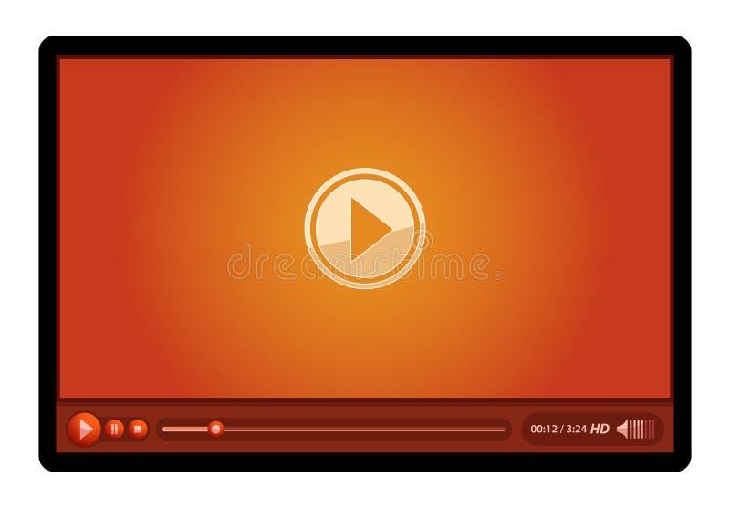 gracza czerwieni wideo ilustracja wektor