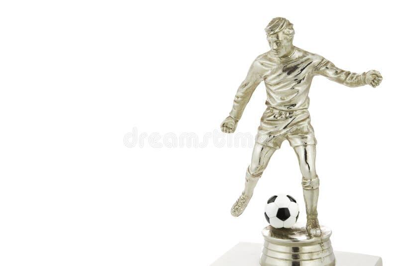 Gracza futbolu trofeum zdjęcie royalty free