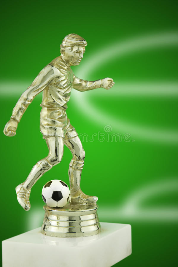 Gracza futbolu trofeum obraz royalty free