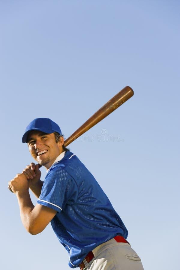 Gracza Kołyszący kij bejsbolowy zdjęcie stock