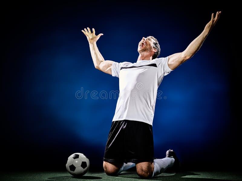 Gracza piłki nożnej mężczyzna fotografia stock
