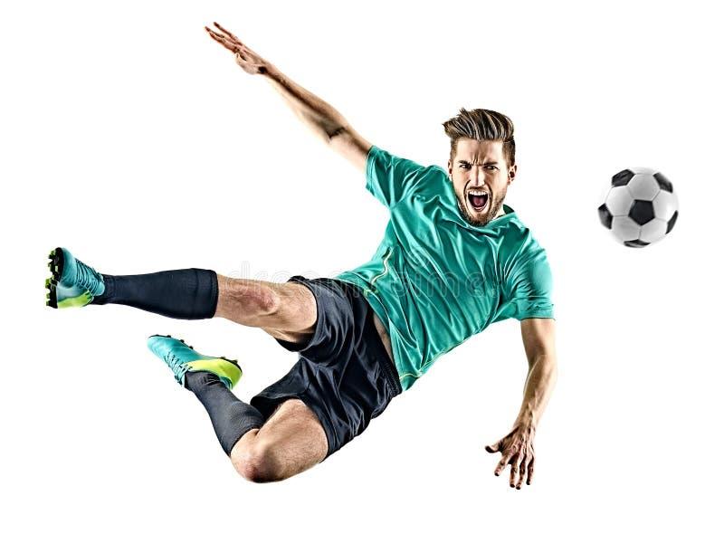Gracza piłki nożnej mężczyzna Odizolowywający fotografia stock