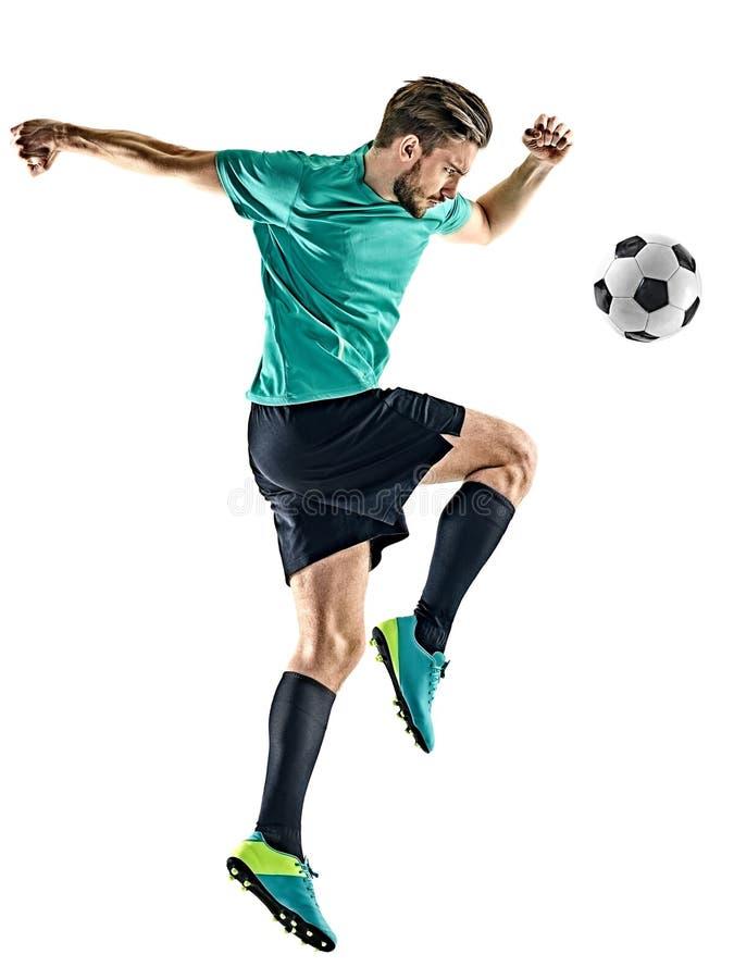 Gracza piłki nożnej mężczyzna Odizolowywający zdjęcia stock