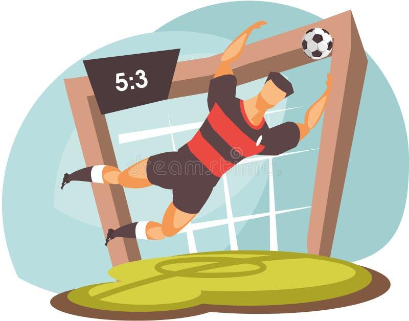 Gracza piłki nożnej wektor ilustracji