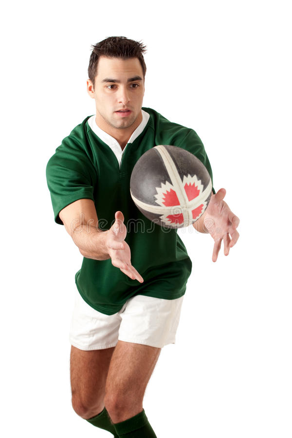 gracza rugby obrazy stock