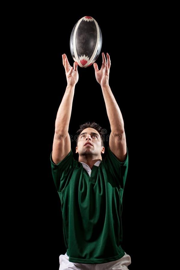 gracza rugby zdjęcie royalty free