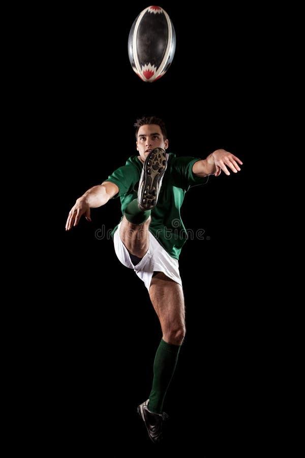 gracza rugby fotografia royalty free