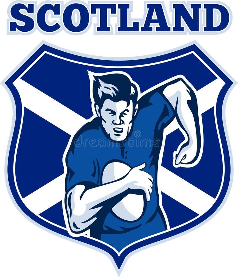 gracza rugby Scotland osłona ilustracja wektor