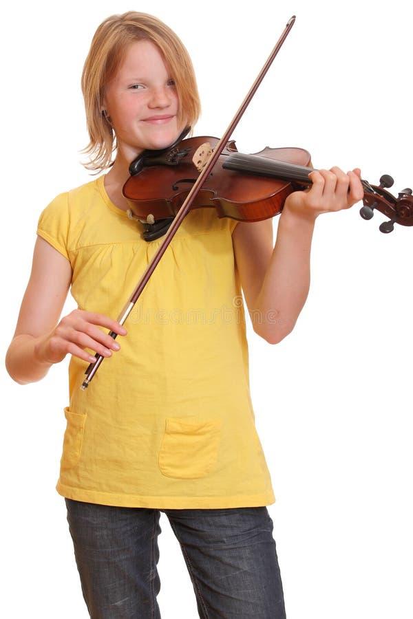 gracza skrzypce obraz royalty free