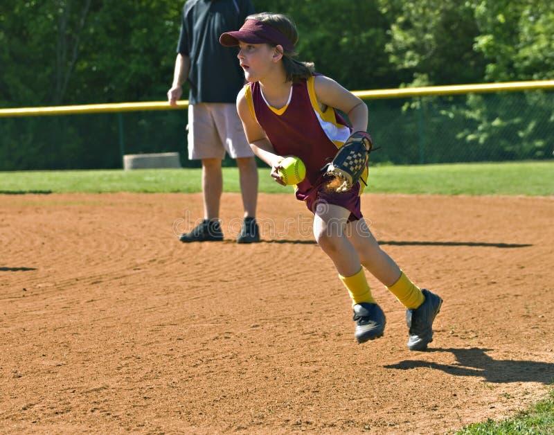gracza softballa potomstwa obraz stock