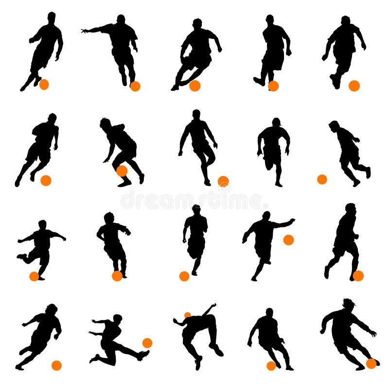 gracza sylwetek piłka nożna ilustracja wektor