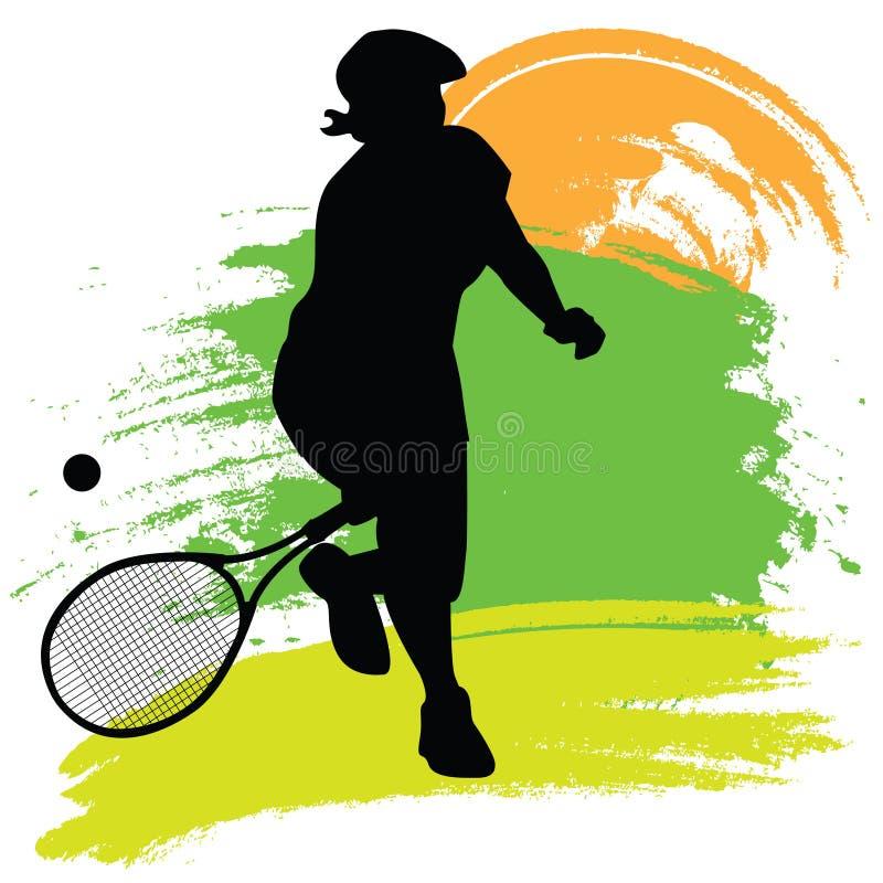 gracza tenis ilustracja wektor