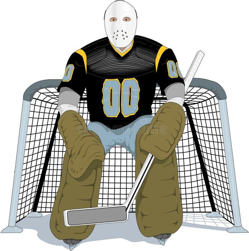 Gracza W Hokeja wektoru ilustracja ilustracji