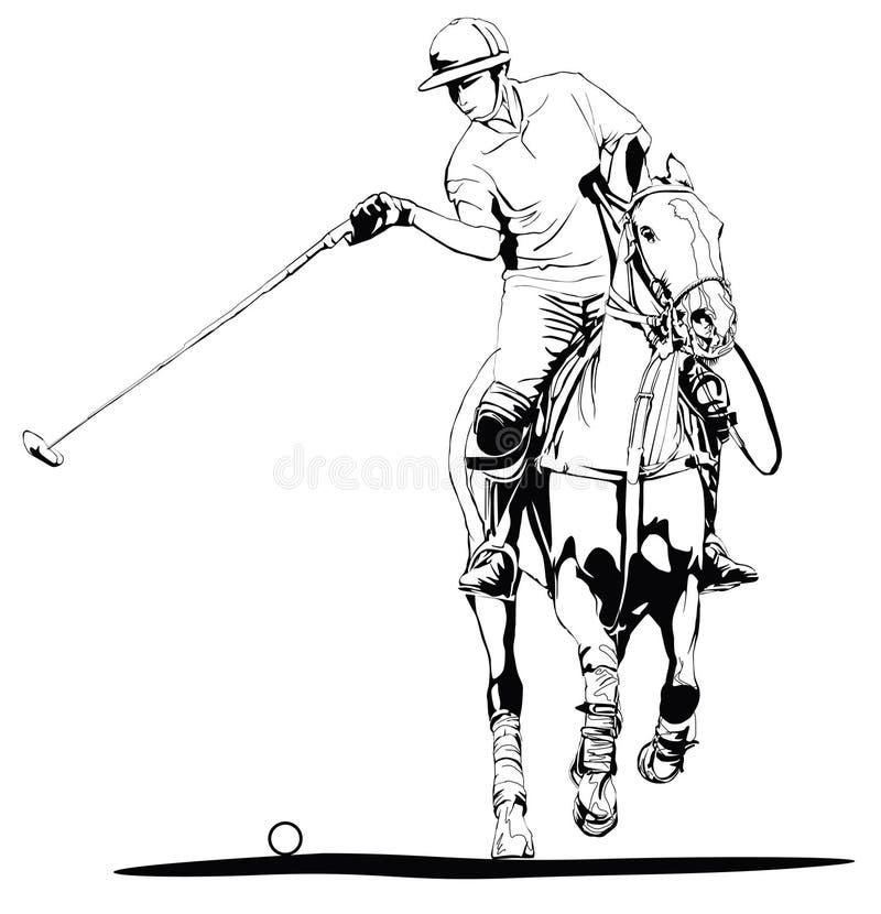 graczem polo ilustracji