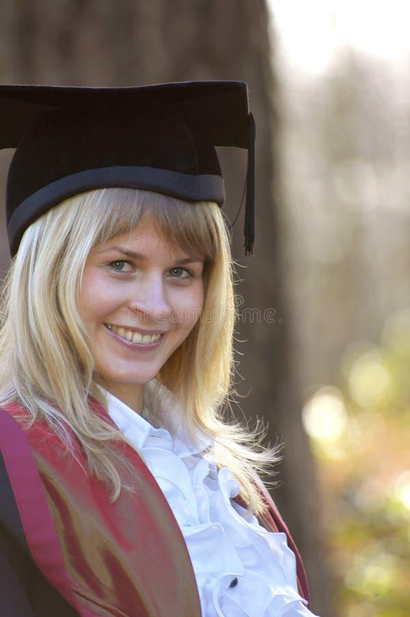 Gradúe en el casquillo y el vestido, Instituto de Tecnología de Wessex, Ashurs fotos de archivo