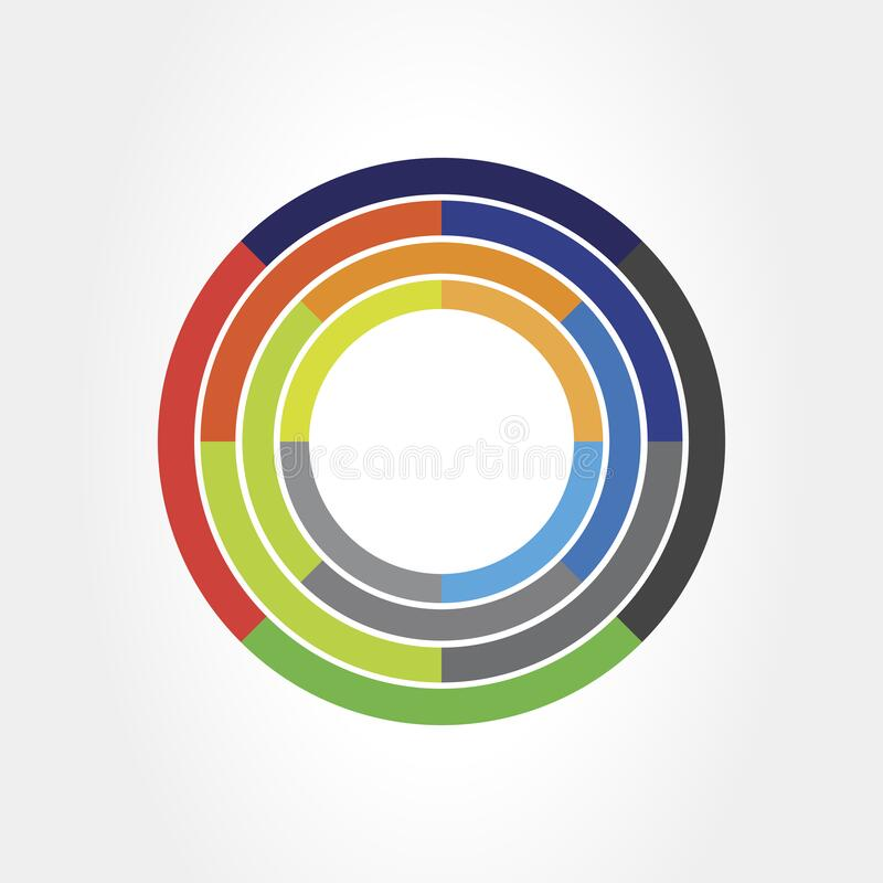 360 Grad Ansicht Related Vector Grafikelement, das als Logo oder Symbol für Ihr Design verwendet werden kann Moderner Stil mit bu stock abbildung