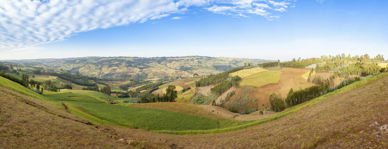 180 grad panorama av Etiopien arkivbild