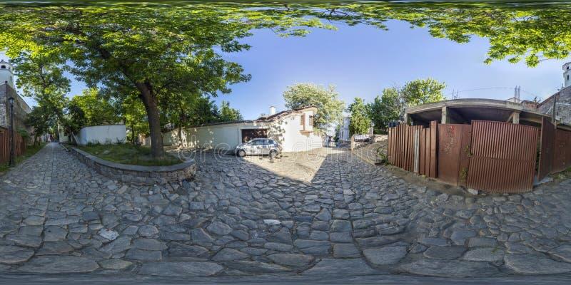 360 Grad Panorama der armenischen Kirche in Plowdiw, Bulgarien lizenzfreie stockfotos