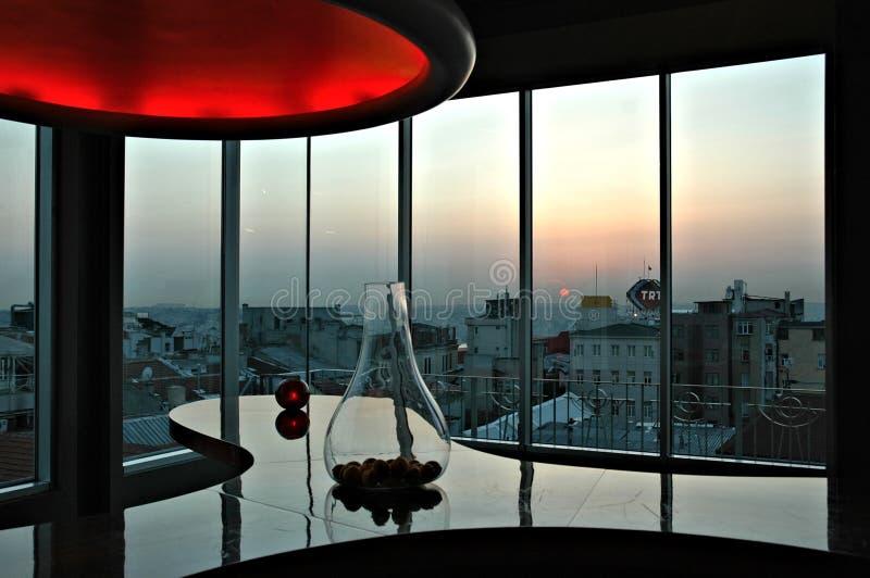 360 Grad-Restaurant, Istanbul lizenzfreies stockbild