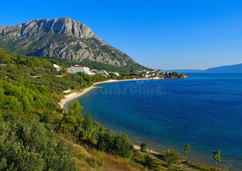 Gradac. The town Gradac in Dalmatia, Croatia royalty free stock images