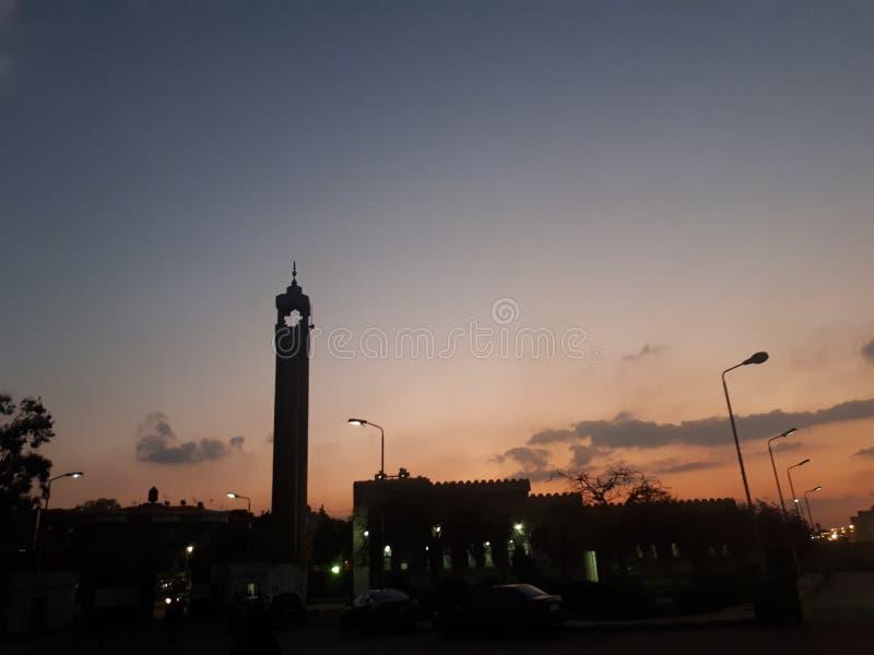Gradación de la puesta del sol imagen de archivo libre de regalías