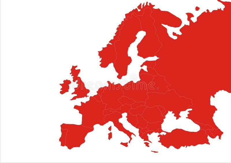 Gradación del continente de Europa libre illustration