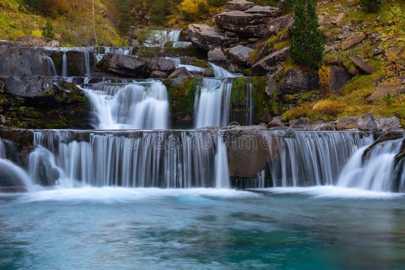 Gradas De Soaso Queda, Ordesa e Monte Perdido National Park, Huesca, Espanha fotografia de stock royalty free