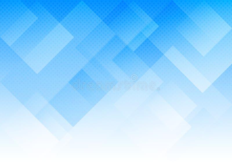 Gradated Błękitni prostokąty i Halftone kropka wzoru tło ilustracji
