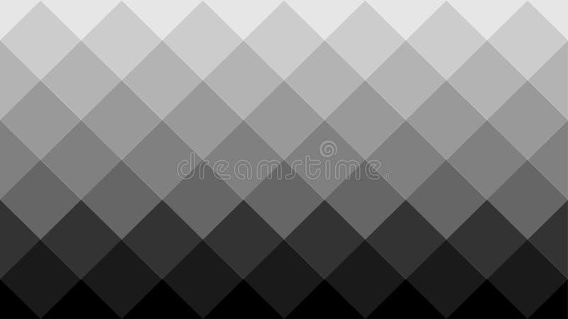 Gradated Grey Geometric Background mit diagonalem Quadrat-Muster lizenzfreie abbildung