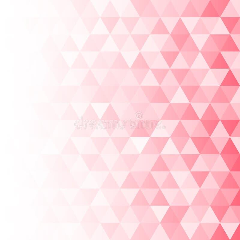 Gradated menchii tło z Geometrycznym trójbok mozaiki skutka wzorem ilustracji