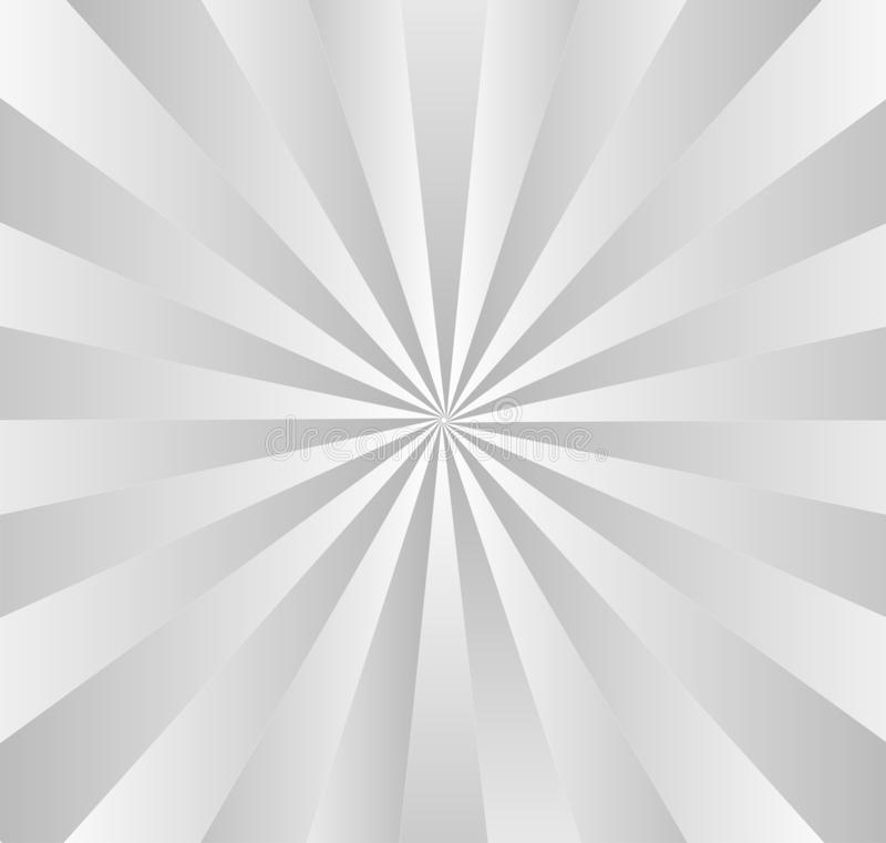 Gradated radial Gray Stripes ilustração do vetor