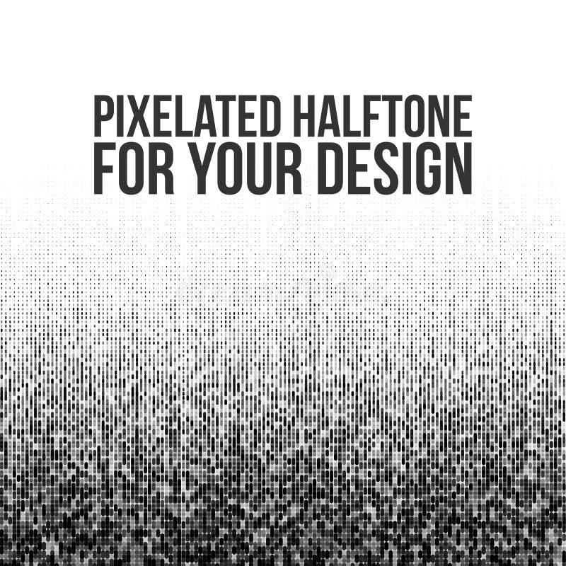 Gradation d'image tramée de vecteur de Pixelated illustration stock