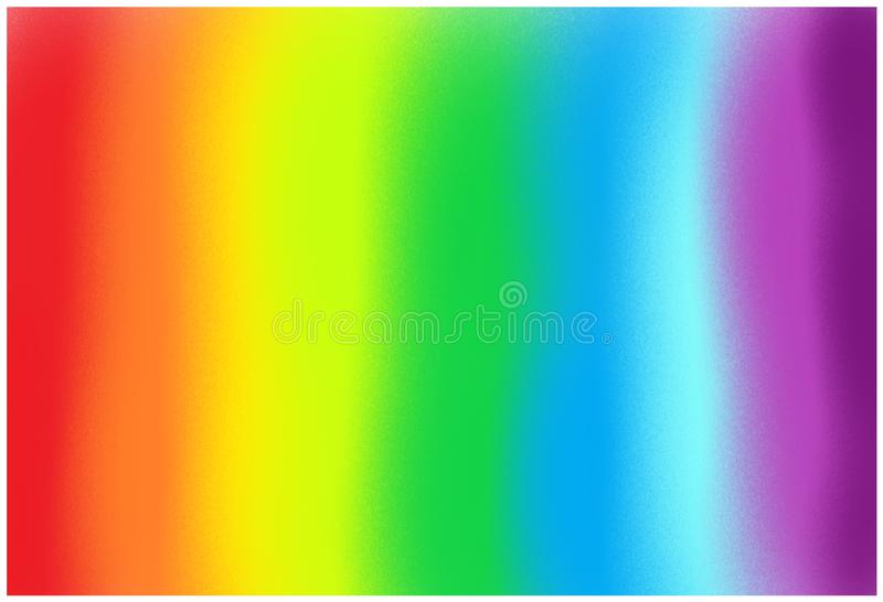 A gradation of the seven colors spectrum of a rainbow royalty free illustration