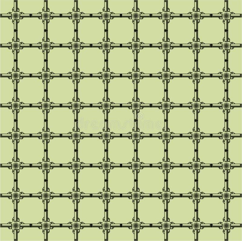 A grade abstrata consiste em elementos repetitivos ilustração do vetor
