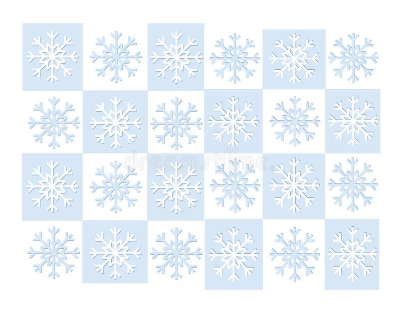 Grade azul do floco de neve ilustração royalty free
