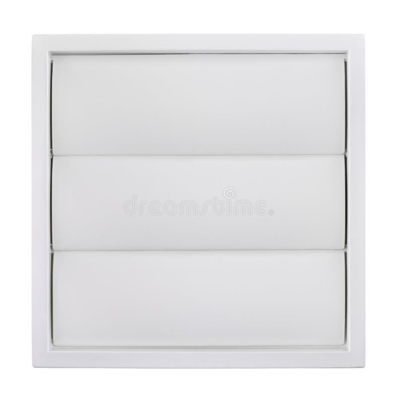 Grade branca da ventilação foto de stock