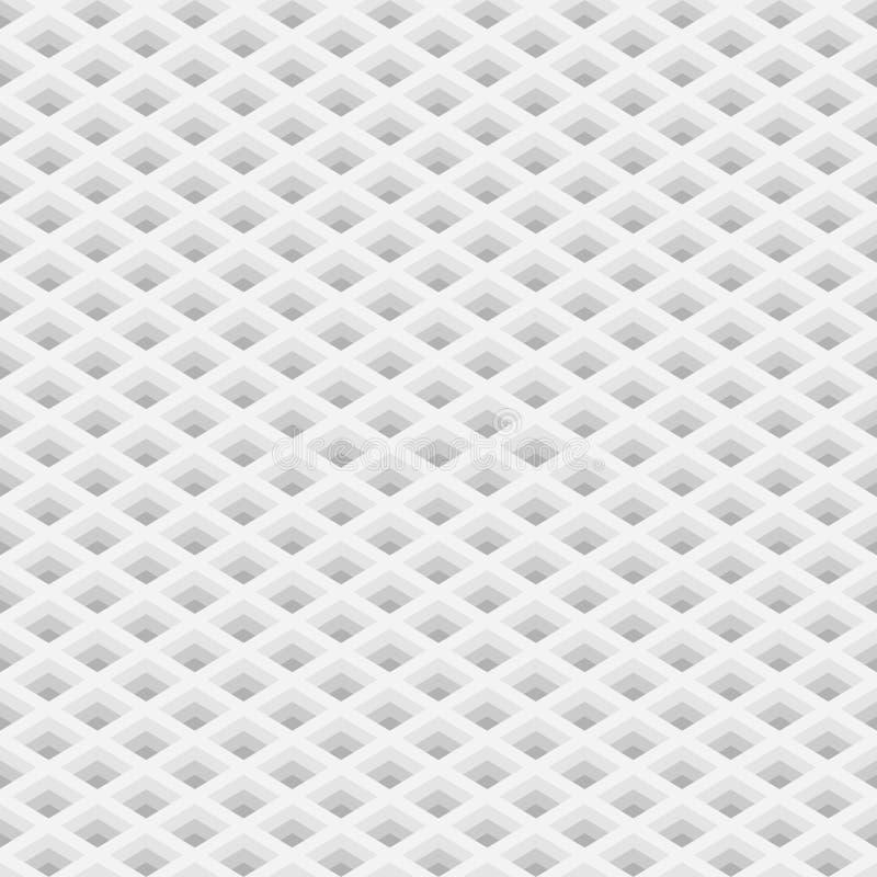Grade da perspectiva com teste padrão sem emenda dos furos quadrados ilustração royalty free