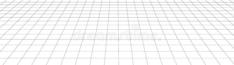 Grade da perspectiva do vetor Linhas detalhadas no fundo branco Ilustra??o do tela panor?mico ilustração royalty free