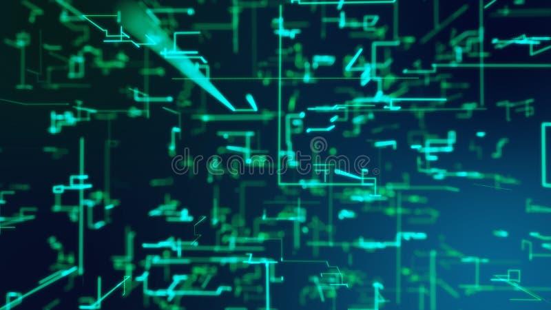 Grade de agitar partículas digitais da matriz ilustração royalty free