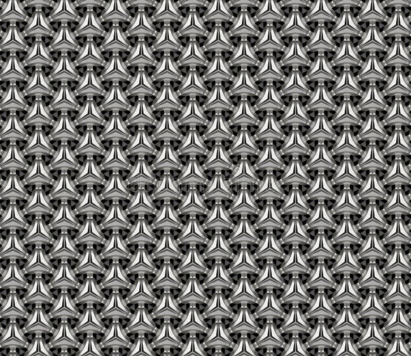 Grade de alumínio 3d rendem a ilustração ilustração stock