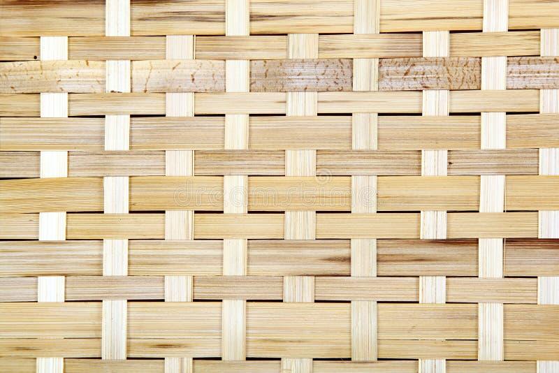 Grade de madeira, o fundo da madeira tecida Textura de madeira de bambu foto de stock