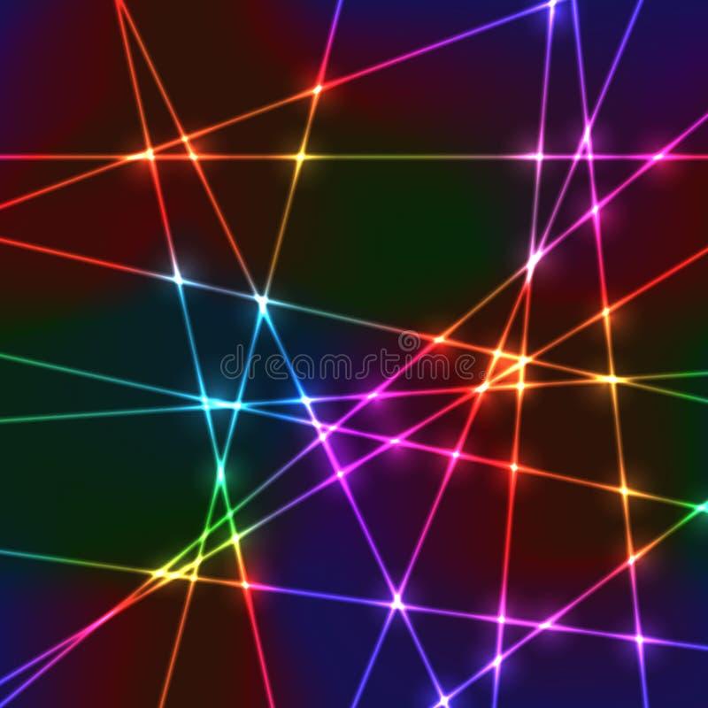 Grade de néon aleatória do laser fotos de stock royalty free