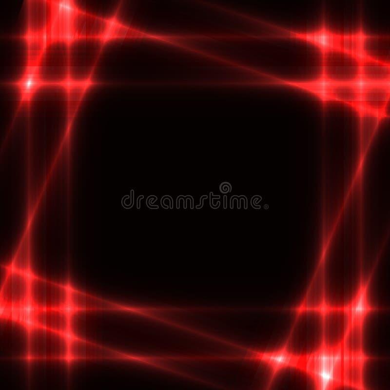Grade de néon vermelha no fundo escuro - molde ilustração do vetor