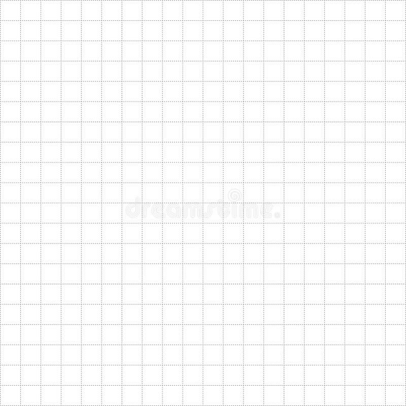Grade de papel Blueprint com vetor de fundo vazio Modelo de backdrop de página em branco de vetor ilustração stock